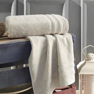 Полотенце для ванной Karna DERIN хлопковая махра кофейный 70х140