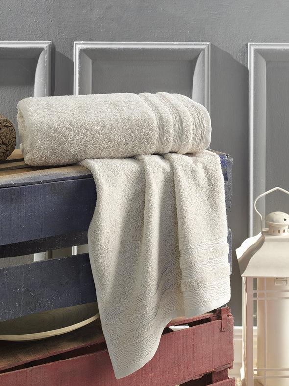 Полотенце для ванной Karna DERIN хлопковая махра кофейный 50*90, фото, фотография