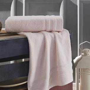 Полотенце для ванной Karna DERIN хлопковая махра пудра 70х140
