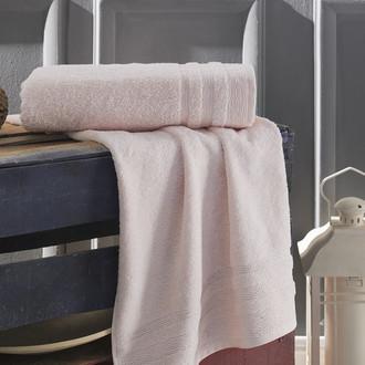 Полотенце для ванной Karna DERIN хлопковая махра пудра 70*140