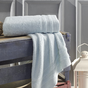Полотенце для ванной Karna DERIN хлопковая махра ментол 70х140