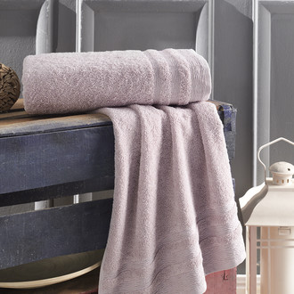 Полотенце для ванной Karna DERIN хлопковая махра светло-лавандовый 70*140