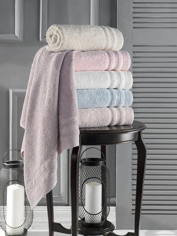 Полотенце для ванной Karna DERIN хлопковая махра светло-лавандовый 50*90, фото, фотография