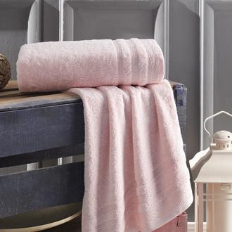 Полотенце для ванной Karna DERIN хлопковая махра розовый 70*140