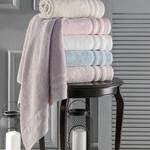 Полотенце для ванной Karna DERIN хлопковая махра розовый 50х90, фото, фотография