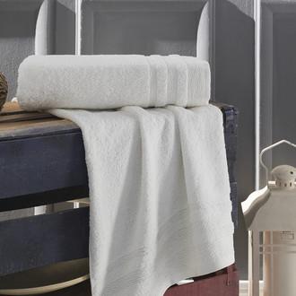 Полотенце для ванной Karna DERIN хлопковая махра кремовый