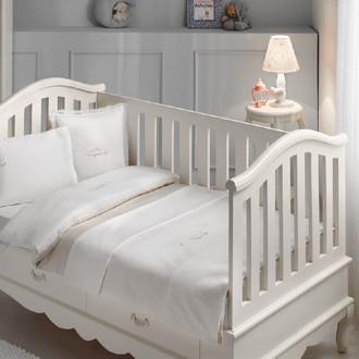 Комплект детского постельного белья в кроватку Tivolyo Home HAPPY BEBE хлопковый сатин делюкс бежевый
