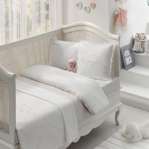 Постельное белье для новорожденных Tivolyo Home COUPLE BEBE хлопковый сатин делюкс бежевый