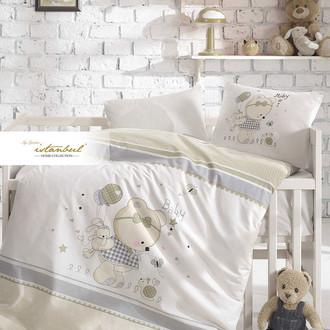 Постельное белье для новорожденных с пледом из велсофта Istanbul Home Collection TEDDY