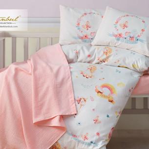 Постельное белье для новорожденных с пледом из велсофта Istanbul Home Collection UNICORN