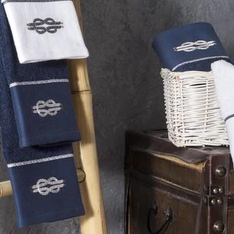 Полотенце для ванной Tivolyo Home ANCHOR хлопковая махра белый