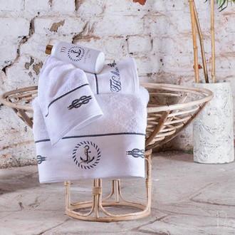 Подарочный набор полотенец для ванной 50*100, 75*150 Tivolyo Home ANCHOR хлопковая махра белый