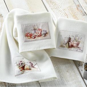 Подарочный набор кухонных полотенец Tivolyo Home GARLAND хлопковая вафля