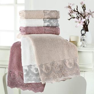 Полотенце для ванной Tivolyo Home REGINA хлопковая махра серый
