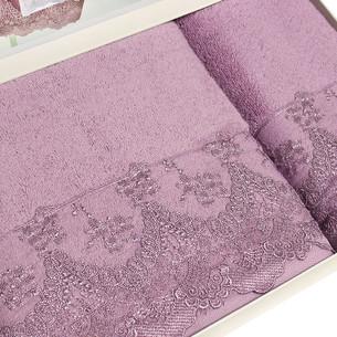 Полотенце для ванной Tivolyo Home REGINA хлопковая махра фиолетовый 50х100