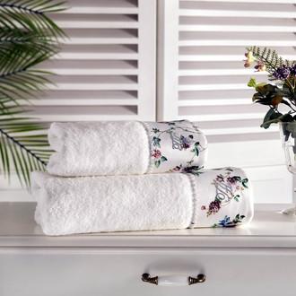 Полотенце для ванной Tivolyo Home ROSELAND хлопковая махра кремовый
