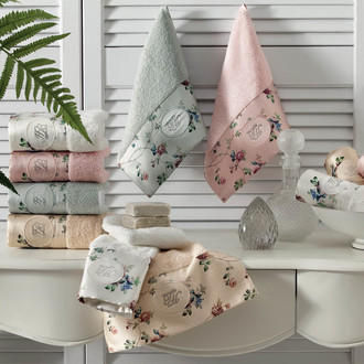 Полотенце для ванной Tivolyo Home ROSELAND LUX хлопковая махра кремовый