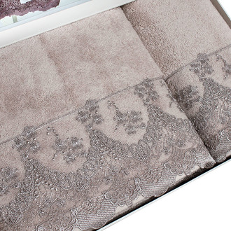 Полотенце для ванной Tivolyo Home REGINA хлопковая махра бежевый