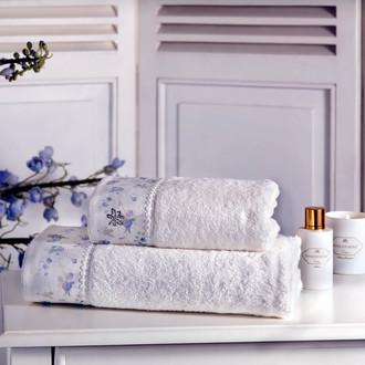 Полотенце для ванной Tivolyo Home IRIS хлопковая махра кремовый