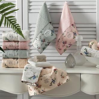 Подарочный набор полотенец-салфеток 30*50(3) Tivolyo Home ROSELAND LUX хлопковая махра ментоловый