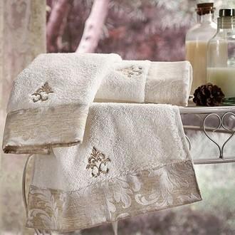 Полотенце для ванной Tivolyo Home VITALY хлопковая махра кремовый