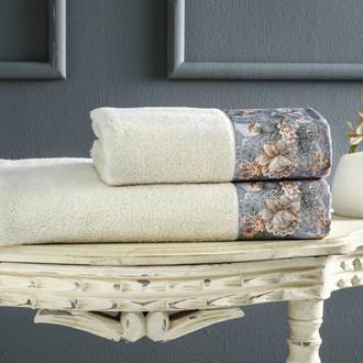 Полотенце для ванной Tivolyo Home ANIKA хлопковая махра кремовый