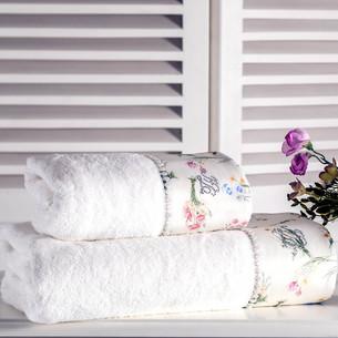 Полотенце для ванной Tivolyo Home ELENORE хлопковая махра кремовый 50х100
