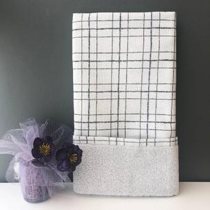 Полотенце для ванной Tivolyo Home NERO хлопковая махра 50х70