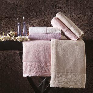 Полотенце для ванной Tivolyo Home DIAMANT хлопковая махра кремовый 30х50