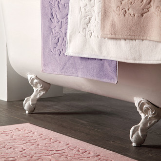 Коврик для ванной Tivolyo Home BAROC хлопковая махра лиловый