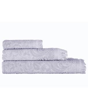Полотенце для ванной Karna ESRA хлопковая махра серый 90х150
