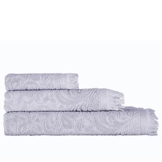 Полотенце для ванной Karna ESRA хлопковая махра серый