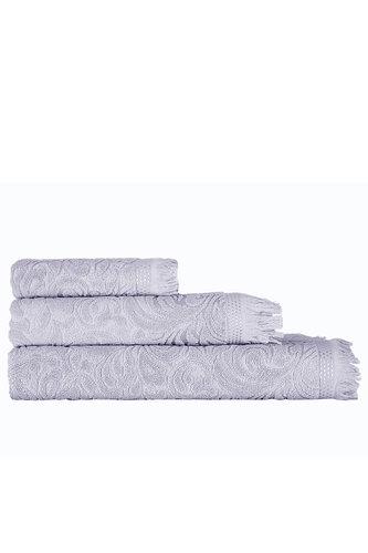 Полотенце для ванной Karna ESRA хлопковая махра серый 90х150, фото, фотография