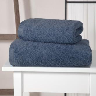 Полотенце для ванной Karna APOLLO хлопковый микрокоттон саксен