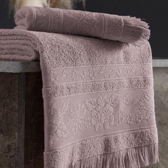 Полотенце для ванной Karna LORA хлопковая махра светло-лавандовый