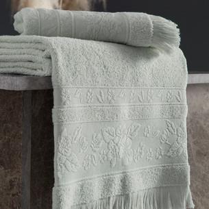Полотенце для ванной Karna LORA хлопковая махра ментол 70х140