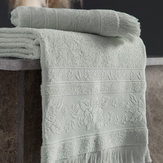 Полотенце для ванной Karna LORA хлопковая махра ментол