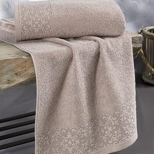 Полотенце для ванной Karna MELEN хлопковая махра капучино 50х90