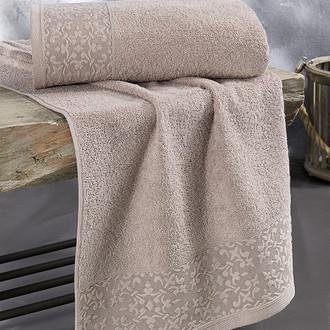 Полотенце для ванной Karna MELEN хлопковая махра капучино