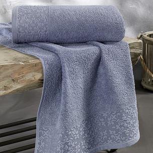 Полотенце для ванной Karna MELEN хлопковая махра саксен 50х90