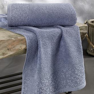 Полотенце для ванной Karna MELEN хлопковая махра саксен
