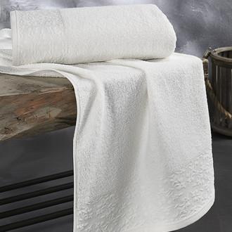 Полотенце для ванной Karna MELEN хлопковая махра кремовый