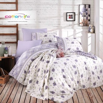 Постельное белье Istanbul Home Collection COTTON LIFE LAVANTA ранфорс лиловый