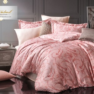 Постельное белье Istanbul Home Collection PURE SATIN VALERIA хлопковый сатин розовый евро