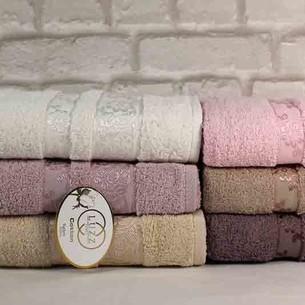 Набор полотенец для ванной 6 шт. Luzz ACELYA хлопковая махра 50х90