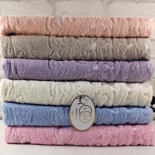 Набор полотенец для ванной 6 шт. Luzz ARMA хлопковая махра 50х90
