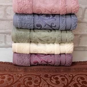 Набор полотенец для ванной 6 шт. Luzz ELEGANCE хлопковая махра 50х90
