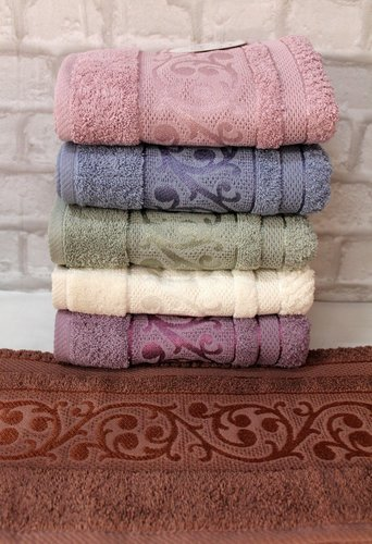 Набор полотенец для ванной 6 шт. Luzz ELEGANCE хлопковая махра 70х140, фото, фотография