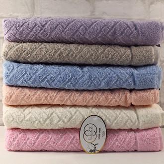 Набор полотенец для ванной 6 шт. Luzz HASIR хлопковая махра