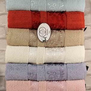 Набор полотенец для ванной 6 шт. Luzz HAZAL хлопковая махра 90х150